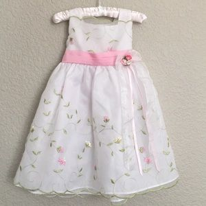 Girl's White Sleeveless Party Dress 12-18 months